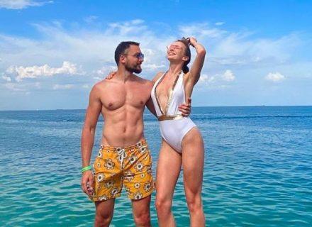 В сети появились пикантные пляжные фото Эдгара Каминского с возлюбленной