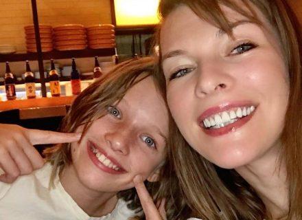12-летняя дочь Миллы Йовович пошла по её стопам