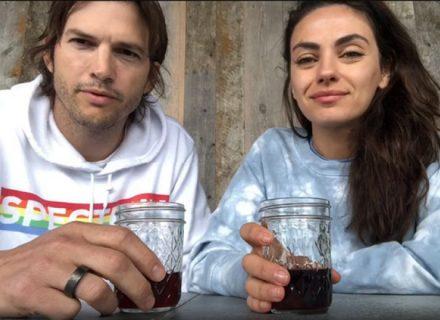 Мила Кунис и Эштон Катчер борются с коронавирусом при помощи вина