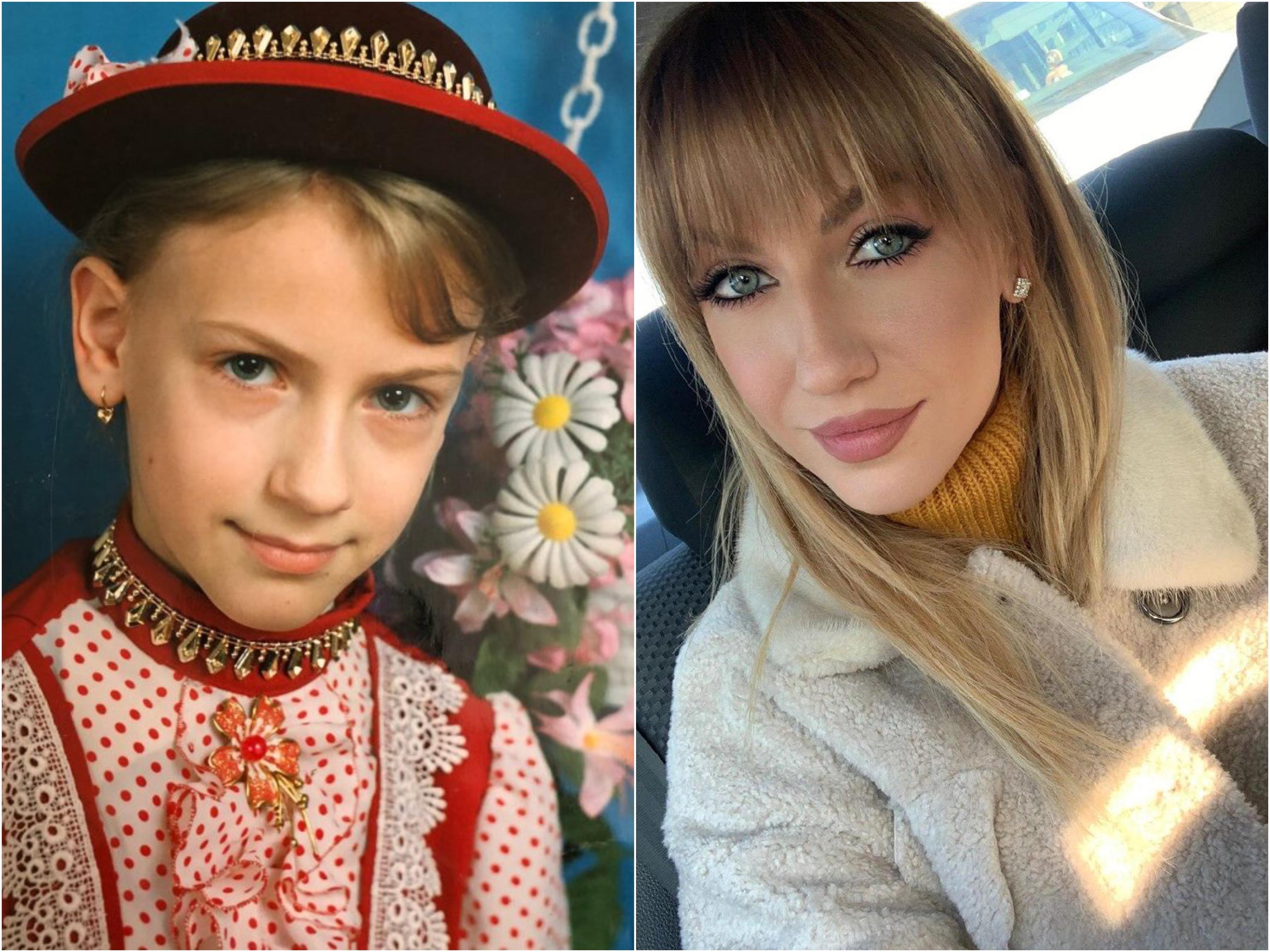 01_06_Леся Никитюк в детстве и сейчас